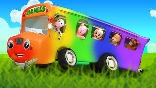 Колеса в автобусе | детские песни и детские стишки | мультфильмы видео