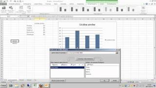 Excel - Wykres dynamiczny - PRZESUNIĘCIE, ILE.NIEPUSTYCH