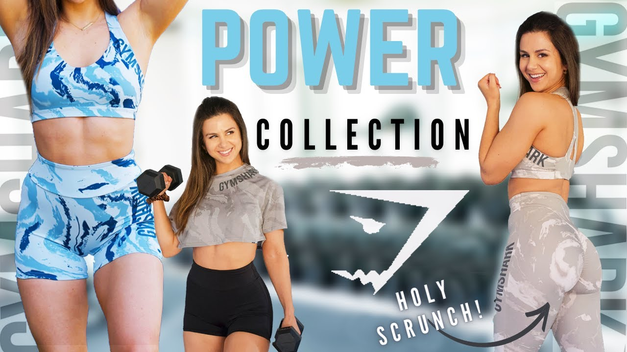 Gymshark's BEST SCRUNCH YET?! | FULL Gymshark POWER collection NEW releases try on haul review!