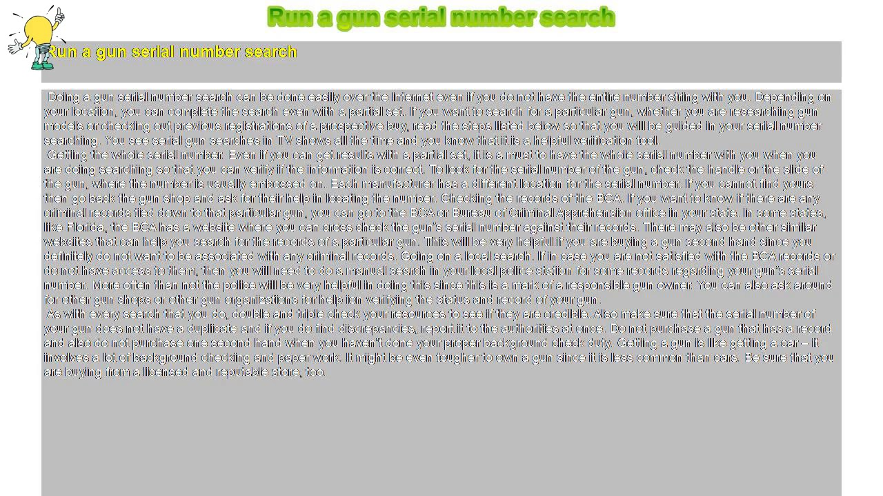 gun serial number font