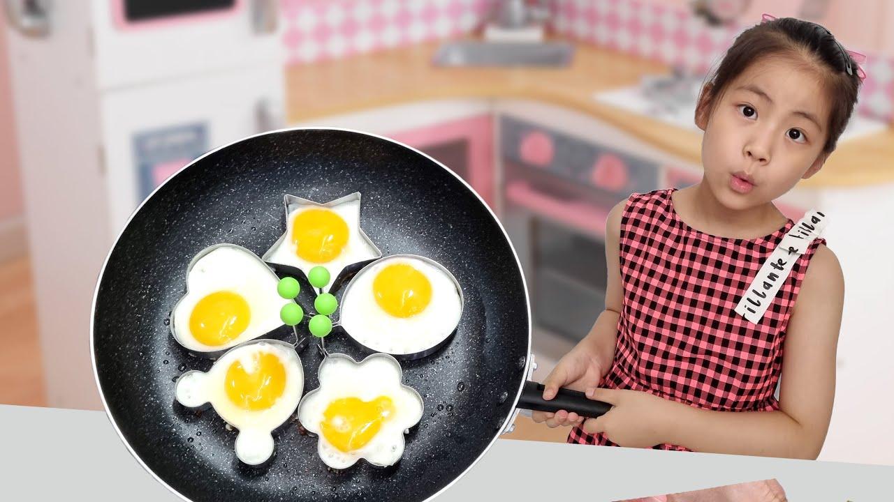 계란을 이쁘게 프라이 하는 방법? 서은이의 계란 후라이 젤리 이야기 요리 쿠킹 놀이 이쁜 계란 후라이 틀 Egg Cooking