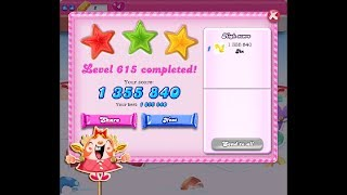 Candy Crush Saga Level 615 ★★★ NO BOOSTER