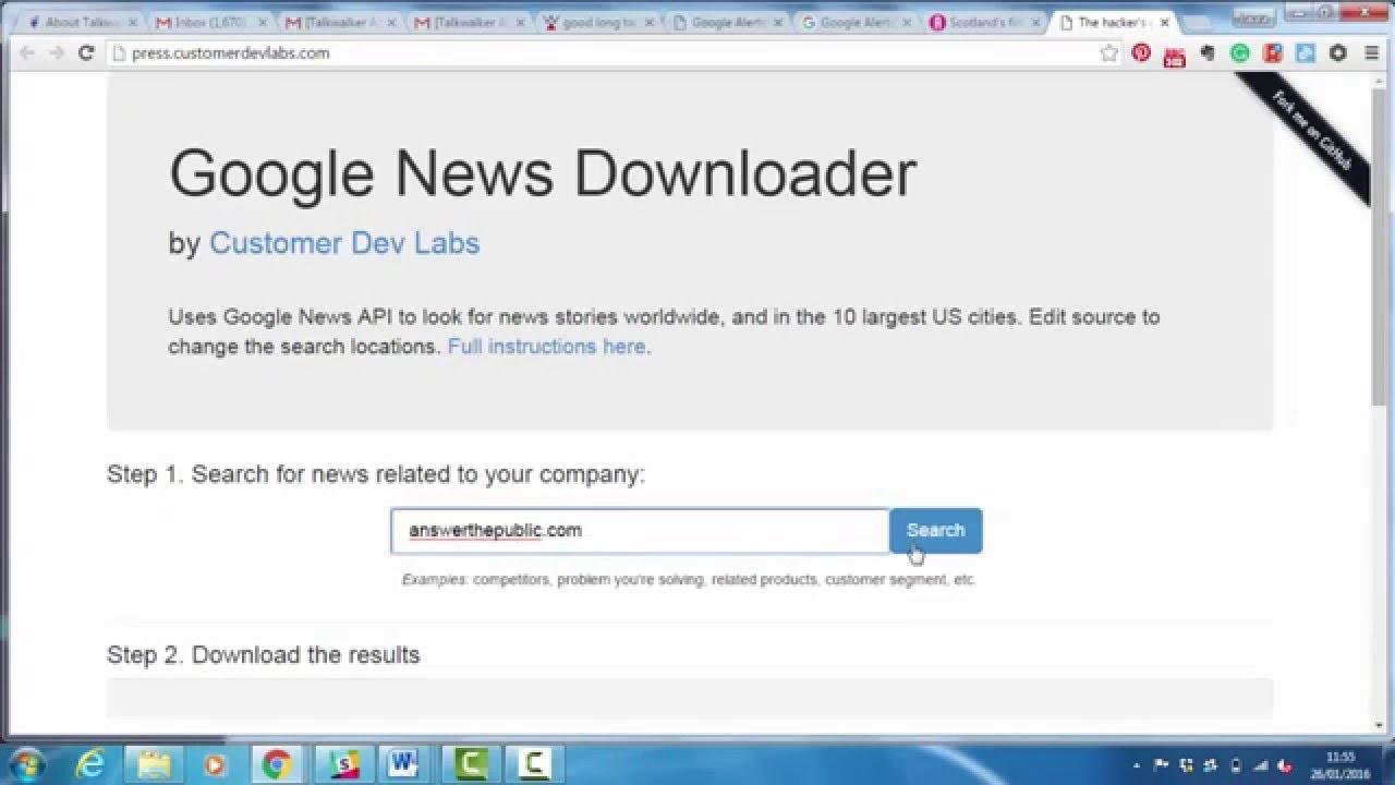 Monitoring Demos - Google News Downloader