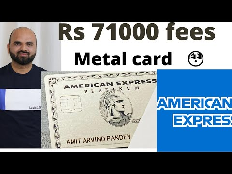 American Express Platinum Charge Card (Metal Card ) India ! (Hindi) Unboxing ,Eligibility