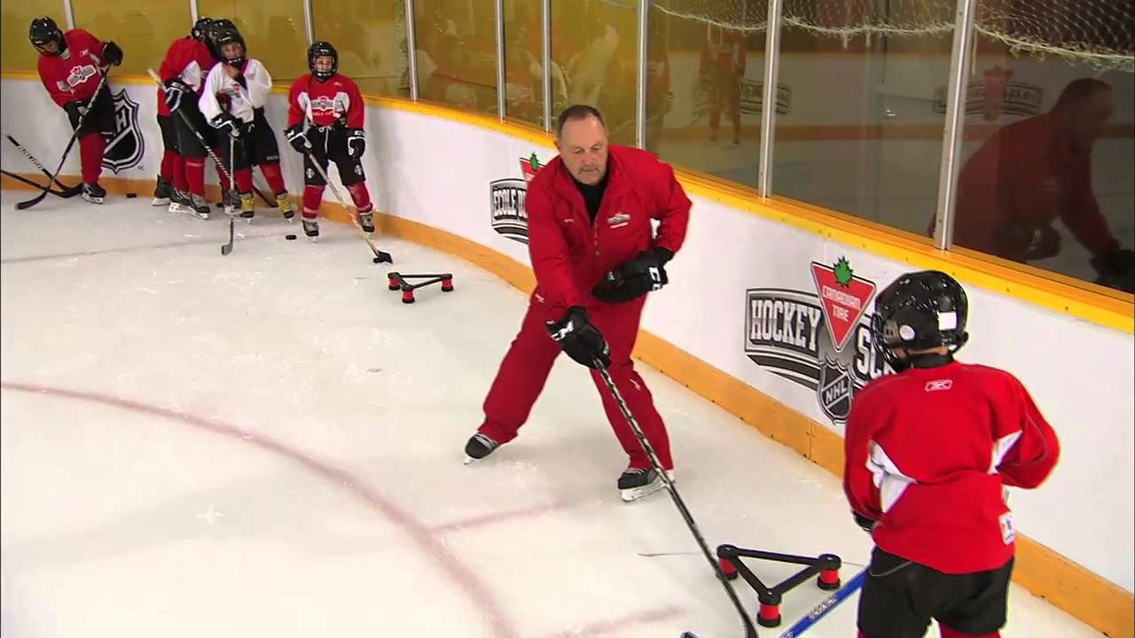 Nhl Skills Off Board Passing From Canadian Tire Hockey School