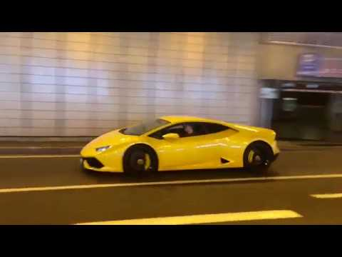 Supercar and classic car SOUNDS in the Monaco Grand Prix tunnel