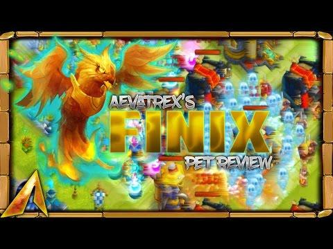 Castle Clash Full Pet Review! Finix! Beginners Best!