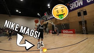 PLAYING BASKETBALL IN NIKE MAGS W/ FAMOUS YOUTUBERS!!