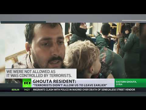 15,000 people escape rebel-held Ghouta through Russian evacuation routes branded 'joke-like' by US