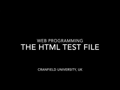 Explaining The HTML Test File