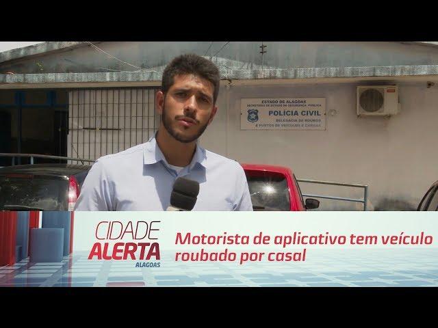 Motorista de aplicativo tem veículo roubado por casal no Graciliano Ramos