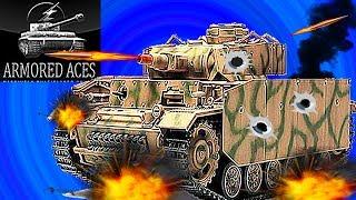 Мульт танки Armored aces #11немецкий танк панцер 3 онлайн игра Видео для детей как Tanktastic