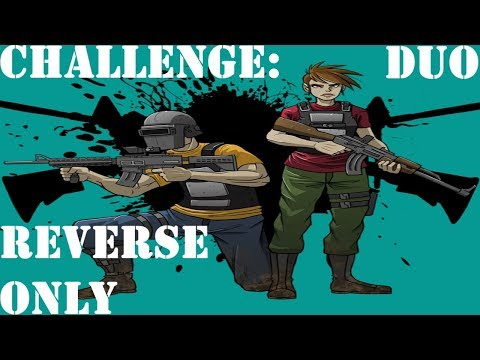 Challenge: Reverse Driving Only (Comedy Top 10 Finish) - PUBG (Duo - Full Game)