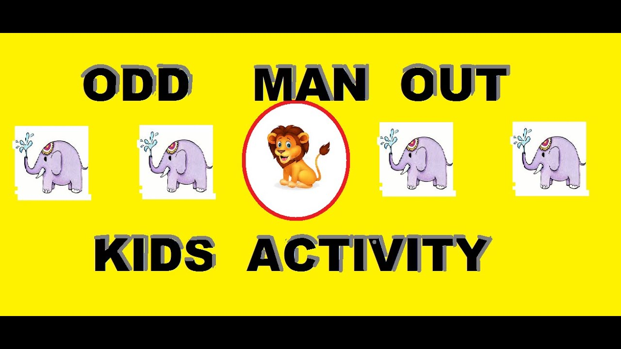 Odd Man Out Activity For Kindergarten And Nursery Kids Youtube