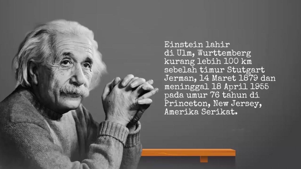 Biografi Singkat Albert Einstein Youtube