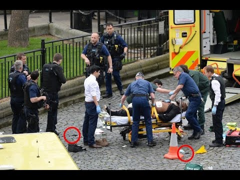 2 assailants? Bloodless knives? No CCTV/armed police? EDL present. Westminster Attack investigation