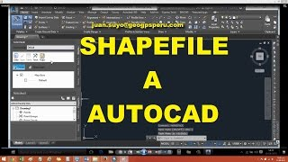 DE SHAPEFILE A AUTOCAD CIVIL 3D - Carta Nacional IGN DWG SHP