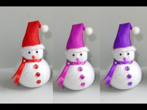 Diy snowman / socks snowman / how to make doll / socks crafts / Christmas decoration DIY crafts