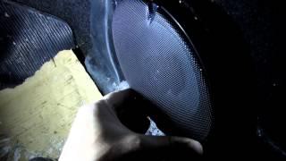 установка 17см динамиков KENWOOD KFC-1752RG на ваз 2110 в штатные места передних дверей