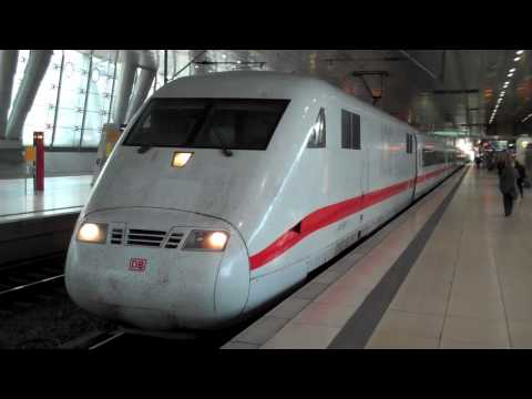 [HD] German ICE high-speed trains at Frankfurt Airport