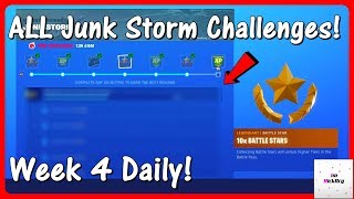 *NEW* All Junk Storm Challenges! (Week 4 Daily Challenges LEAKED) | Fortnite