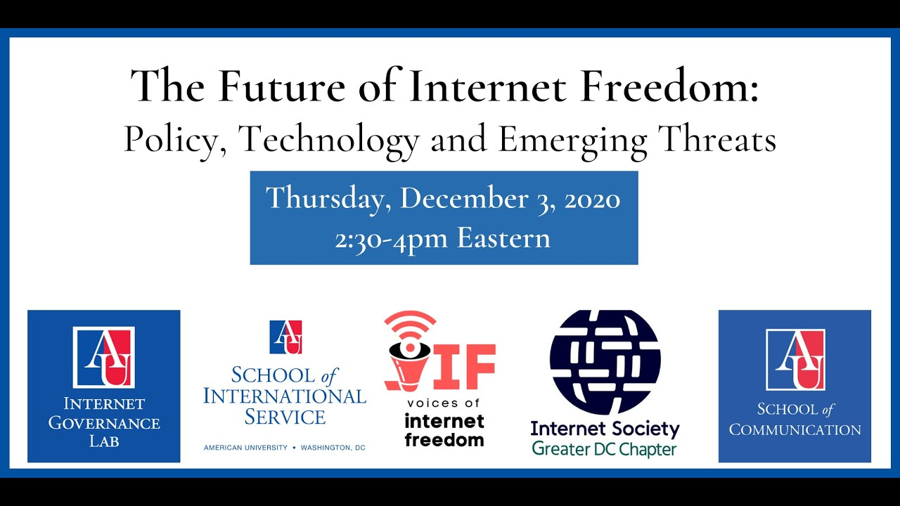 Future of Internet Freedom: two-part webinar series