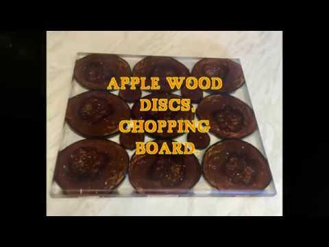 APPLE WOOD DISCS EPOXY RESIN CHOPPING BOARD PART 2