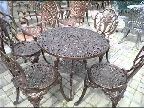 Antique Cast Iron Garden Table And Chairs Egg Chair Swing Furniture I Metal Youtube