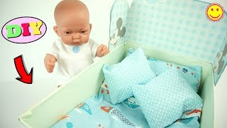 Toys Doll Crib DIY for kids From a Nespresso Box