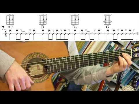 Oefenen met Akkoorden / Chord Practice 7. A7 D D7 G