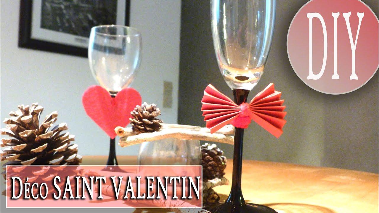 Diy d co de table pour la saint valentin id e simple et originale youtube for Table saint valentin