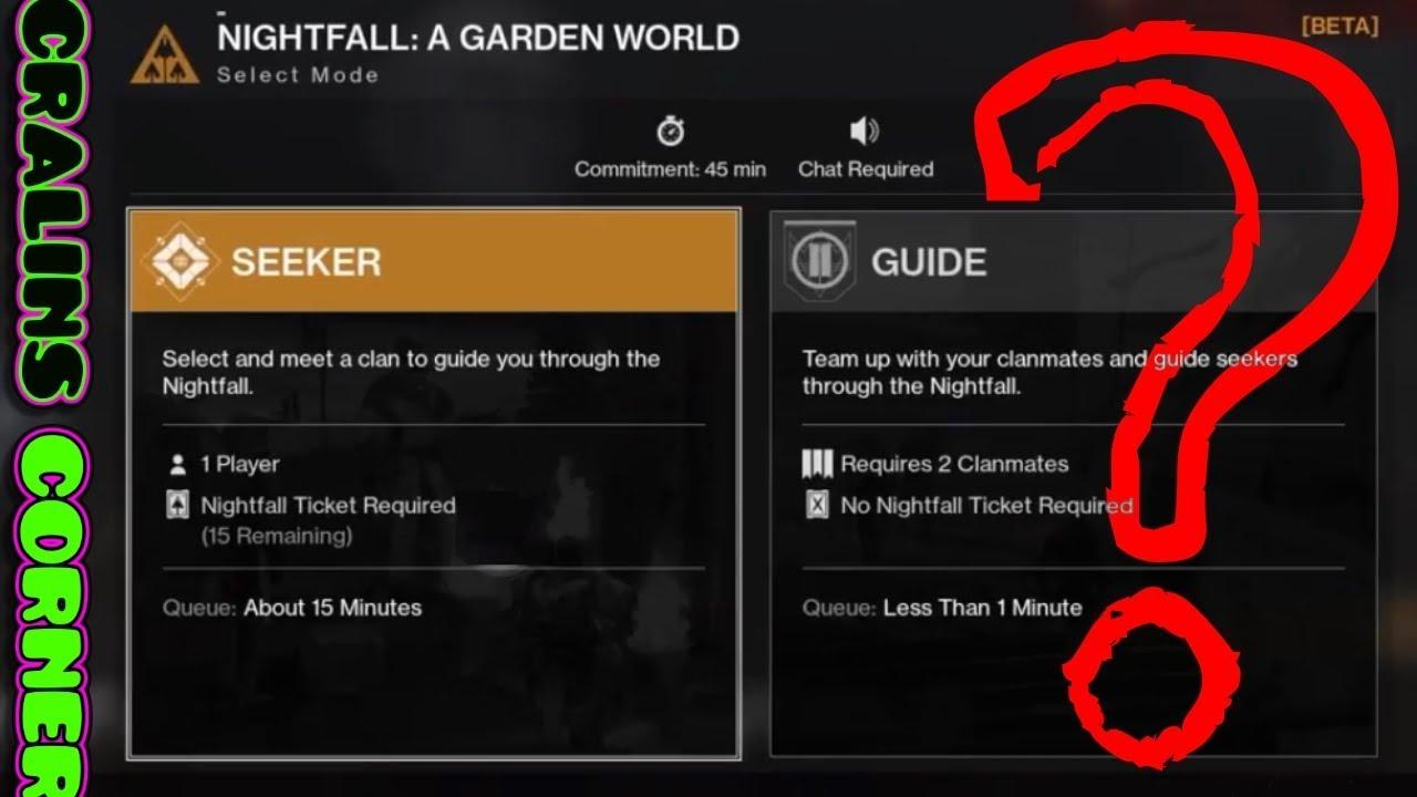 No matchmaking for nightfall