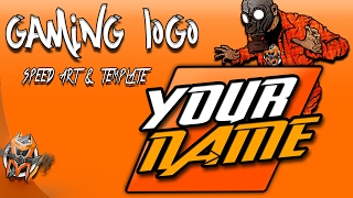 Gaming Logo - speed art and template