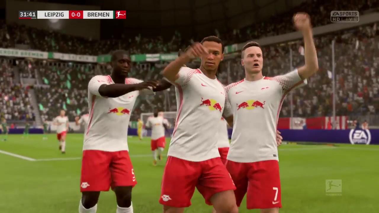 Fifa 18 Rb Leipzig Vs Werder Bremen Bundesliga 201718 Full