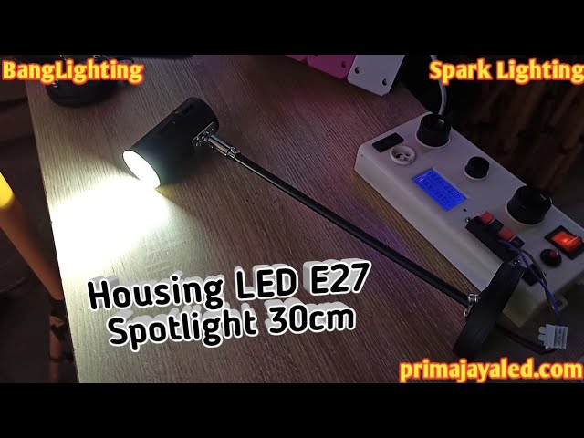 Housing LED E27 Spotlight 30cm
