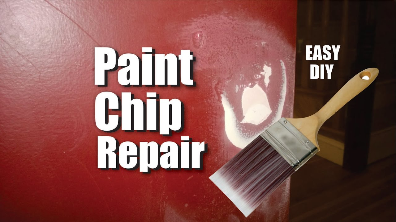 How to easily repair paint chips and peeling damage to drywall or sheetrock walls  YouTube