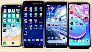 iPhone X vs S9 Plus vs Pixel 2 XL vs P20 Pro Speed Test!