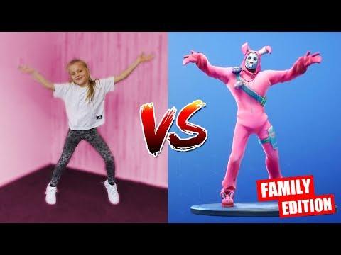 FORTNITE FAMILY DANCE CHALLENGE!! [Fortnite Dansjes Nadoen Met Ons Gezin] ♥DeZoeteZusjes♥