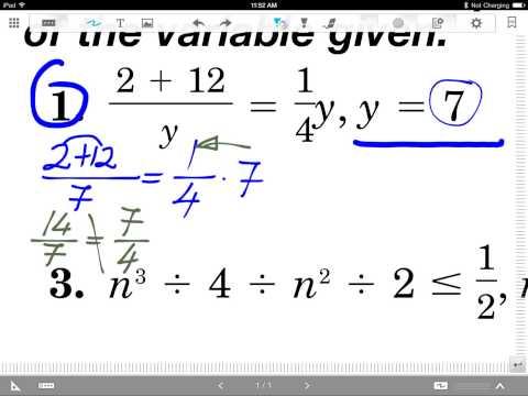 open sentences equations