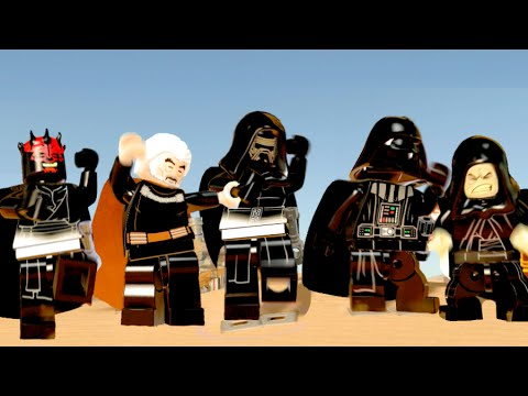 LEGO Star Wars The Force Awakens All Dark Side Characters Dancing ...