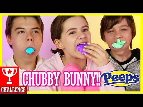 CHUBBY BUNNY CHALLENGE! | WITH PEEPS FOR EASTER!! | KITTIESMAMA