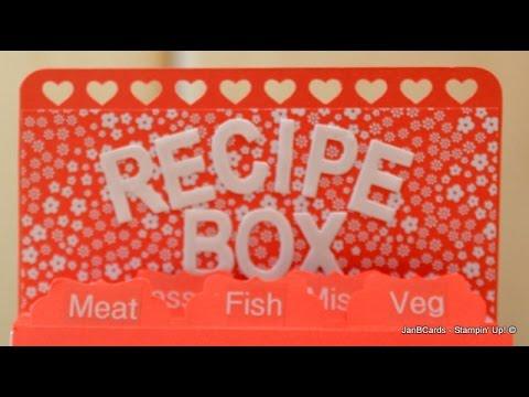 No.77 - Recipe Box - JanB UK Stampin' Up! Demonstrator Independent