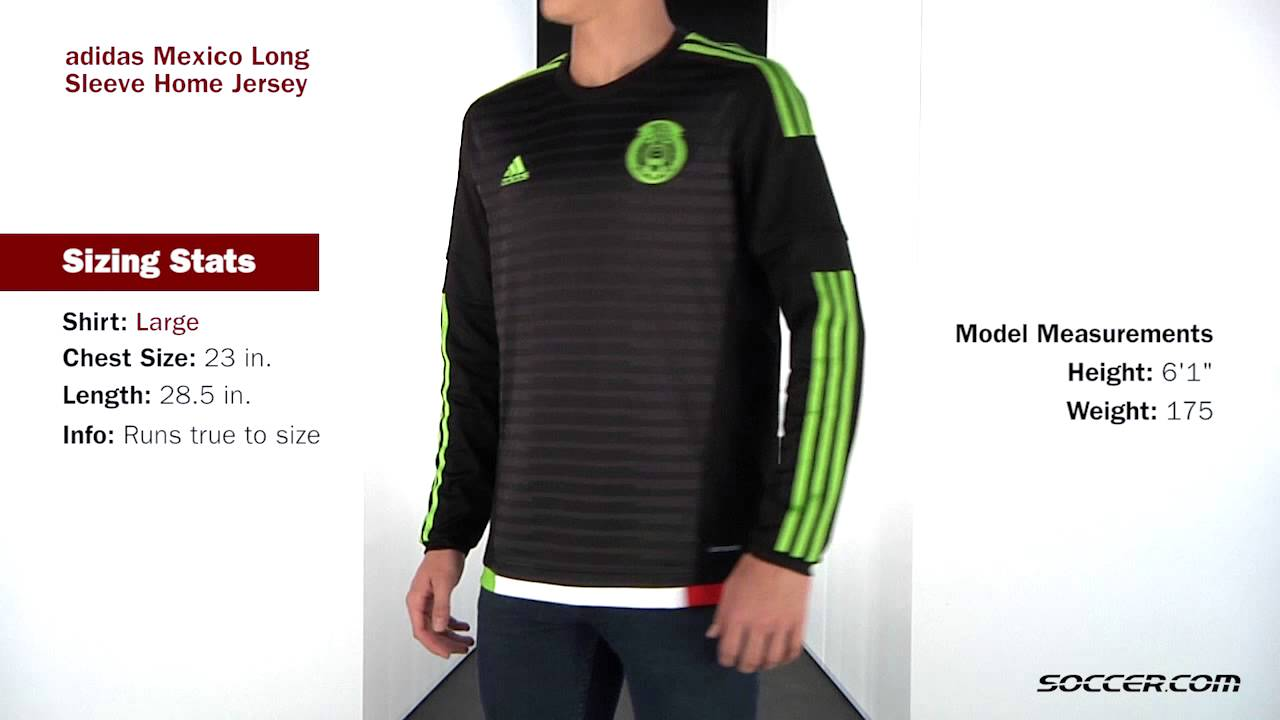 fc53be1b0 adidas Mexico Long Sleeve Home Jersey 2015 - YouTube