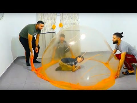 giant slime bubbles in our house