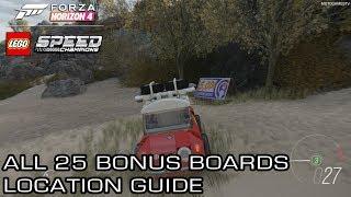 Forza Horizon 4 LEGO - All 25 Bonus (Influence) Boards Location Guide