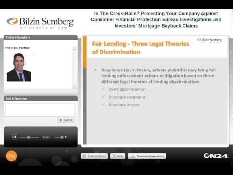 Homebuilder Series Webinar: CFPB Protection & Investors' Mortgage Buyback Claims, Phil Stein