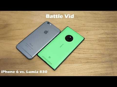 Redux Battle Vid: iPhone 6 vs Lumia 830