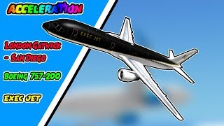 ROBLOX | Acceleration Flight Simulator | LGW - KSAN | Boeing 757-200