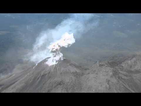 Guatemala Volcano Eruption - Santiaguito from Santa Maria