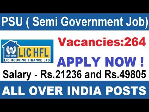 Semi Government Job 2017 PSU | LIC Housing Finance Recruitment 2017  All India